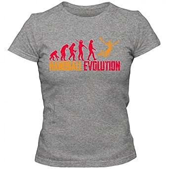 Handball Evolution #1 T-Shirt | Kreisläufer | Meisterschaft | Handballer | Frauen | Shirt, Farbe:Graumeliert (Grey Melange L191);Größe:S