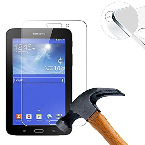 Lusee 2 x Pack Panzerglasfolie Schutzfolie für Samsung Galaxy Tab 4 Lite T116 7.0 Zoll Displayschutz Tempered Glass Folie Screen Protector Panzerfolie Glasfolie 0,3 mm 9H Clear 2.5D - Protector Screen 4 Galaxy