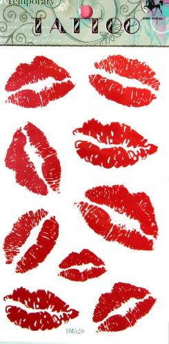 GGSELL GGSELL ROI HORSE Nouveau design lèvres rouge stckers de tatouage temporaire