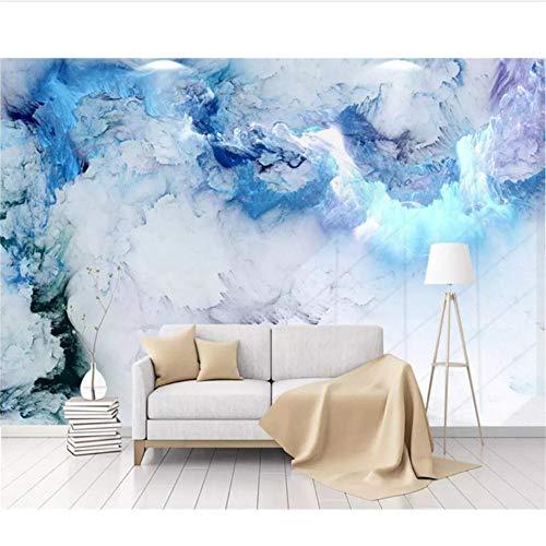 Mrlwy moderna carta da parati minimalista nordic nuvole colorate murale tv sfondo muro soggiorno camera da letto 3d carta da parati-400x270cm