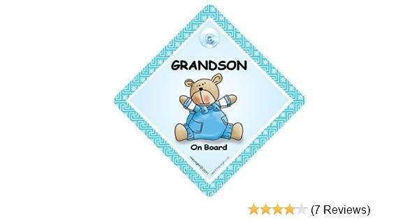 Grandchild On Board Baby On Board Car Sign, Granddaughter On Board Car Sign