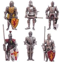 Puckator - Figura magnética para puerta de nevera, diseño de caballero medieval