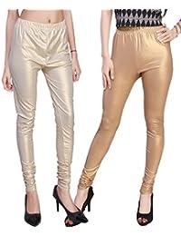 Comix Women's Shiny Leggings - Pack of 2(AGSPL-3136-LG-10-CMB2)