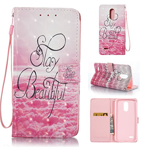 Cozy Hut LG Stylus 3 Hülle, PU Leder Flip Wallet Case mit Magnetverschluss Anti-Scratch Shell Cash Pouch ID Card Slot Standfunktion Etui für LG Stylus 3 - Schönes Meer