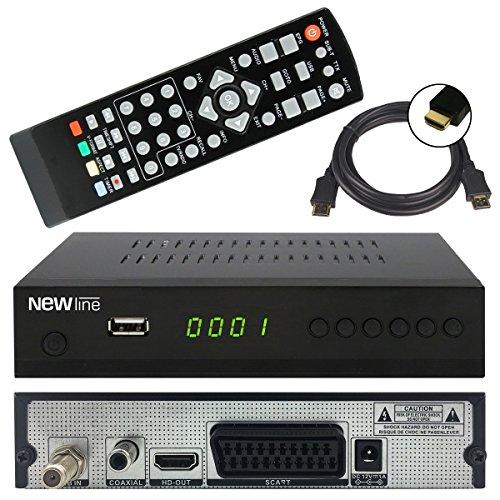 netshop 25 New Line X1 Digitaler HD Sat Receiver (HDTV, DVB-S2, HDMI, 1080p, SCART, PVR, USB TV Aufnahme + Mediaplayer, Full HD, Astra vorinstalliert) - Schwarz