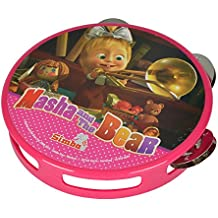 Simba 109306604 - Masha y el oso rosado pandereta