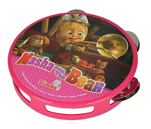 Simba 109306604 - Mascha und der Bär Tamburin pink Preisvergleich