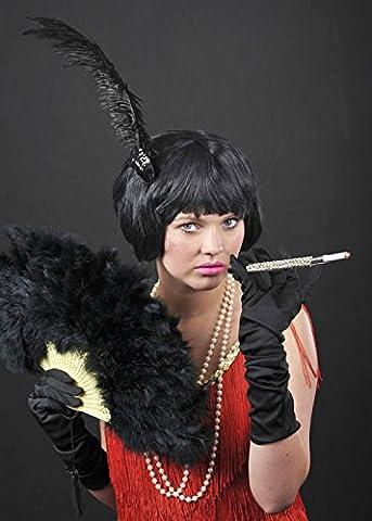 Women 20s Flapper Girl Black Bob China Doll Wig