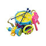 Best Musical Toy For One Year Old Boys - Yacool® 5PCS Baby Boy Girl Drum Set Musical Review