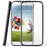 moex Samsung Galaxy S4 | Hülle Slim Transparent Schwarz Impact Back-Cover Dünn Schutzhülle Silikon Handy-Hülle für Samsung Galaxy S4 / S IV Case TPU Tasche Matt