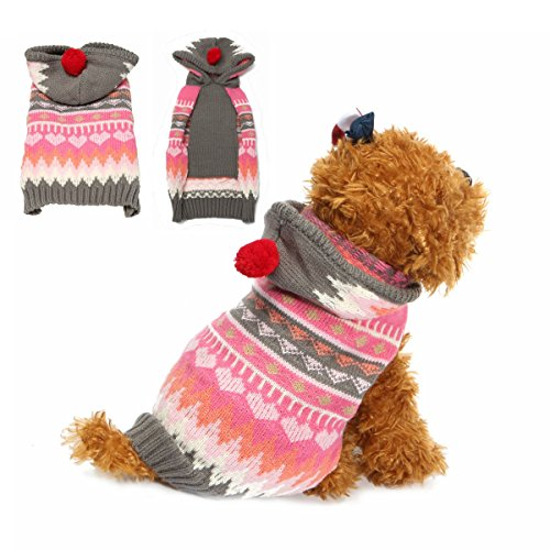 Tutoy Haustier Hund Katze Schneeflocke Pullover Winter Warm Mantel Jacke Kleidung Weste Kostüm Jacke Hut Bekleidung Hoodie -XXS