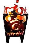 Svenska Feuerkorb Modell Hexe Feuerstelle Größe XXL Feuersäule aus Stahl 35,5 x 37,0 x 75 cm