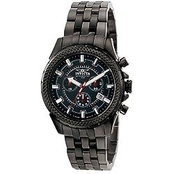 Invicta 7168 44mm Black Steel Bracelet & Case flame fusion Men's Watch