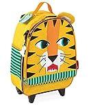 Janod 4507706 - Rollkoffer Tiger, 20 Liter, mehrfarbig