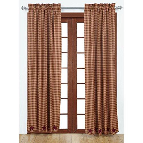 VHC Marken Burgund Star gewelltem Panel Set von 284x 40, rot, 203,2x 213,4cm - 80 X 84 Panel