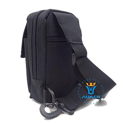 Multifunktions Survival Gear Tactical Beutel MOLLE Beutel Messenger Tasche Brust Tasche, Outdoor Camping EDC ID Kreditkarte Brieftasche Schultertasche Taille-Tasche Handytasche BK