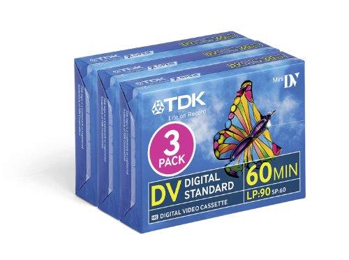 TDK DVM 60 Video Cassette Confezione da 3
