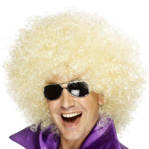 Smiffys Unisex Mega Funky Afro Perücke, Blond (70er Jahre Kostüme Für Paare)