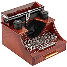 Mini Vintage Style Máquina de Escribir Clockwork Music Box Juguetes Retro Creativos Decoración de Mesa de