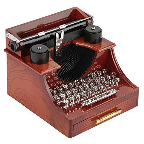 Mini Vintage Style Máquina de Escribir Clockwork Music Box...