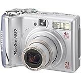 Canon Appareil photo numérique PowerShot A550 Capteur CCD 7 Mpix Zoom optique 4x DIGIC II Écran LCD 2 pouces Silver