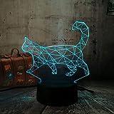3D Tier Nachtlicht Faule Katze Walking Cat 7 Farben Veränderbar Led lampe Kinder Weihnachtsgeschenk Tisch Schreibtisch Dekor Licht Baby Schlaf lampe