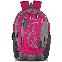 Bag-Age Flower Large 35 Ltrs School College Backpack (Pink)