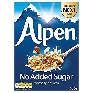 Alpen No Added Sugar The Swiss Recipe 560 G (Pack of 6)