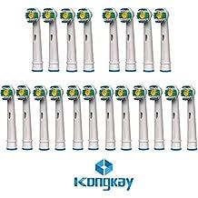 "KongKay® 20 X ""3D white"" Recambio para Cepillo eléctrico Compatible y en forma Braun Oral-B, compatibile with Braun Oral-B 3D White (Pro Bright), Número de modelo: EB18 (5PK x 4PCS)"