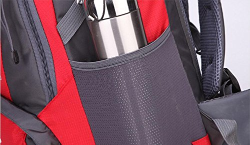 LQABW Outdoor-Nylon Oxford Tuch Wasserdichtes Haltbarer Rucksack-Spielraum-Climbing Leichte Rucksack Breatherdbebensicher Reduzierte Tasche 55L Blue