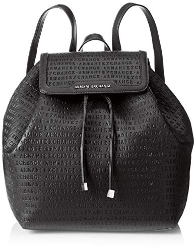 Armani Exchange - Denim Backpack, Mochilas Mujer, Negro (Black), 31x15x49 cm (B...
