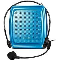 SHIDU SD-S368 Stimmenverstärker (10W) mit 1500mAh Lithium Batterie und Kabelmikrofon für Lehrer/Trainer/Reiseführer und Mehr (368 Azul)