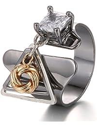 Joyería ajustable de la piedra de la plata de la señora del anillo de la manera