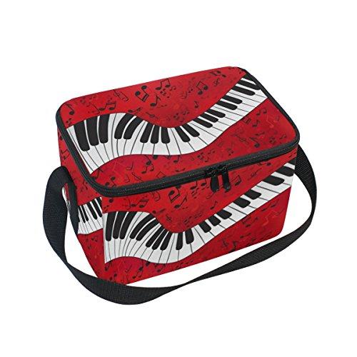 DOSHINE Musik Note Piano Tastatur Isolierte Lunch Box Tasche, Kühler Ice Lunch Tasche Wiederverwendbar für Männer Frauen Erwachsene Kinder Jungen Mädchen (Musikalische Tasche Tastatur)