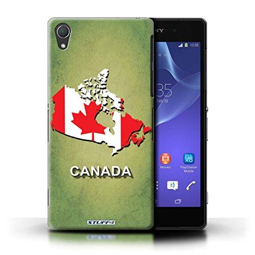 Kobalt® Imprimé Etui / Coque pour Sony Xperia Z2 / Russie/Russe conception / Série Drapeau Pays Canada