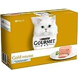Purina Gourmet Gold Mousse Comida para gatos de Pescado del Oceano   8 cajas de 12 latas pequeñas de 85gr