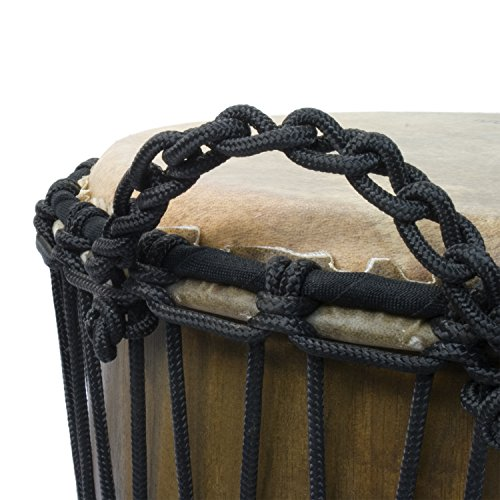 "World Rhythm 12"" African Djembe Drum - Swirl Natural - Wooden Djembe Drum"
