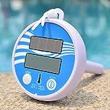 Elektronisches Schwimmbecken-Thermometer Solare Aufladung LCD-Display Pool-Thermometer Wassertemperatur-Thermometer Außen- und Innenthermometer für Schwimmbäder, Spas, Whirlpools, Fische und Teiche