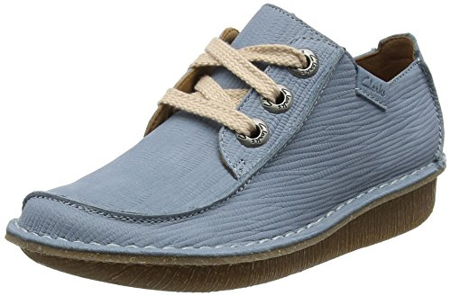 Clarks Damen Funny Dream Derbys Blau (Blue Grey), 41.5 EU