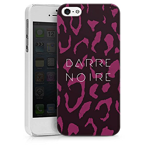 Apple iPhone X Silikon Hülle Case Schutzhülle BARRE NOIRE Fashion Leopard Hard Case weiß