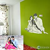 #9: Pencil Sketch Photo Gift Wall Sticker - Engrave your photos on the Wall - Creative Birthday / Anniversary gift