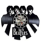 HY&DD Handmade Vintage Vinyl-Schallplatte Beatles Thema Wanduhr Moderne Uhr-E 30cm(12inch)