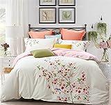 Bettwäsche-Set, 100% Baumwolle Bettwäsche-Sets/Bettbezug / Bettlaken/Kissenbezüge Bettbezug Luxus-Schlafzimmer liefert, 5-6.6ft