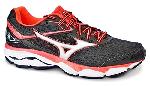 9 fierycoral Chaussures 81 Wave Ultima Black de Mizuno silver Running Femme Wos Multicolore 4ERnq