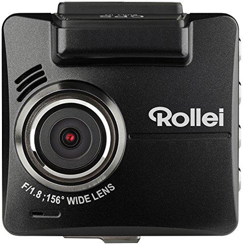 Rollei CarDVR-318 - Hochauflösende Dashcam/ GPS Autokamera (KFZ-Kamera, DVR Kamera) mit 2k Videoaufzeichnung und Full HD, inkl. Bewegungssensor, Parküberwachung und GPS-Funktion - Schwarz True Hd-lcd-display
