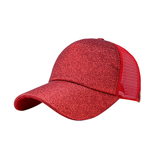 Unisex Basecap Baumwolle Baseball Kappen Mesh Baseball Cap, Verstellbar Basecap Pailletten Baseball Mützen Schirmmütze Snapback Caps Stretch Hut Classic Bb Cappy für Sport Reise Outdoor Freizeit Mesh-stretch-hut