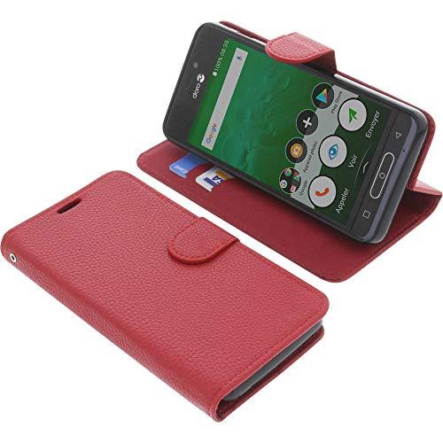 Tasche für Doro 8035 Book Style rot Schutz Hülle Buch