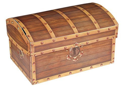 Folding Pirate's Treasure Chest Party Storage Box by Rhode Island ()