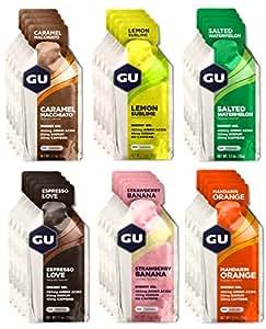 GU Energy Gels - Packung mit 24 Geschmacksrichtungen
