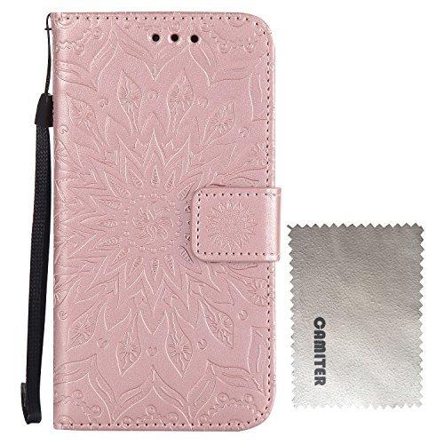 Camiter oro rosa girasol Pattern Funda Carcasa Case Cover Protección Smartphone Móvil Accesorio Para Xiaomi Redmi Note 4X 5,5 Pouces + Paño de limpieza gratuito